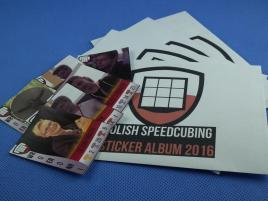Polish Speedcubing Sticker Album - zestaw naklejek