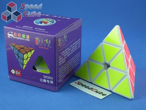ShengShou Pyraminx Aurora Biała