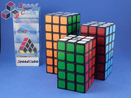 WitEden 3x3x7 Cuboid Cube Black