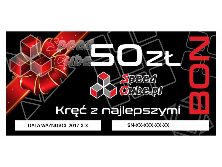 Bon upominkowy do sklepu SpeedCube 50 PLN