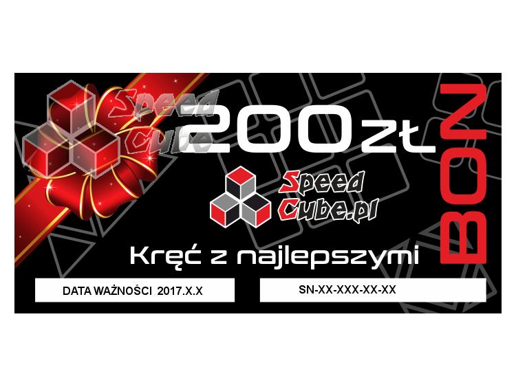 Bon upominkowy do sklepu SpeedCube 200 PLN