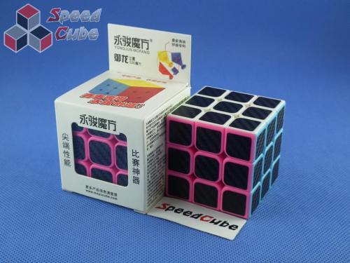 YongJun Yulong 3x3x3 kolorowa PiNk Carbon Stickers