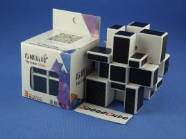 Cube Style Mirror 3x3x3 White Body - CarBon stickers