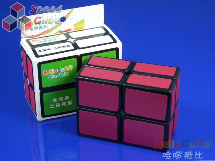 HelloCube Flat 2x2 Red Stickers