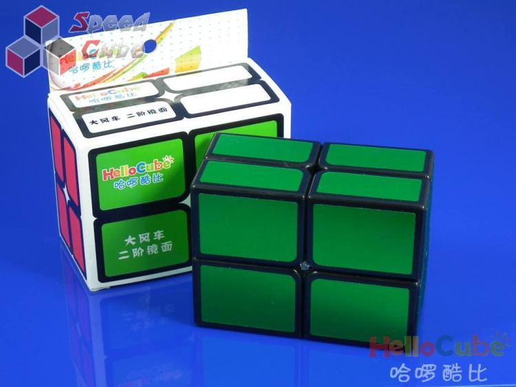 HelloCube Flat 2x2 Green Stickers