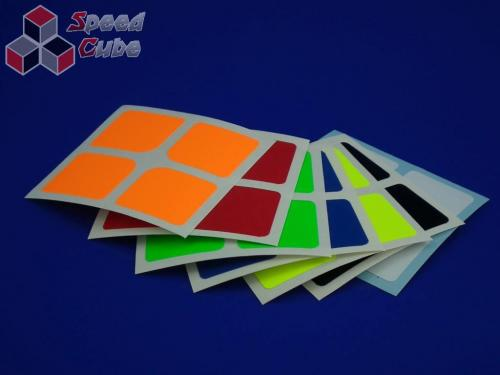 Naklejki 2x2x2 Halczuk Stickers Florian Fluo Dark Blue