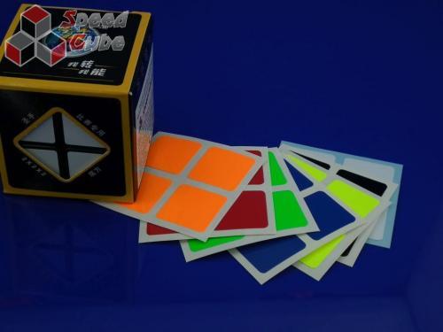 Naklejki 2x2x2 Halczuk Stickers Fluo Dark Blue