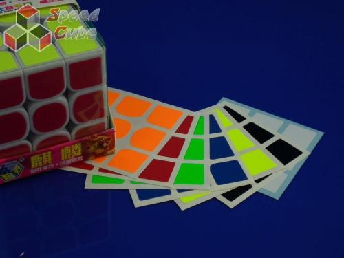 Naklejki 3x3x3 Halczuk Stickers YuXin Fluo Dark Blue