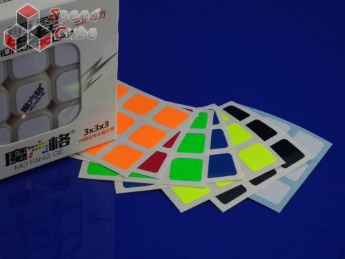 Naklejki 3x3x3 Halczuk Stickers Thunder Clap Fluo Dark Blue
