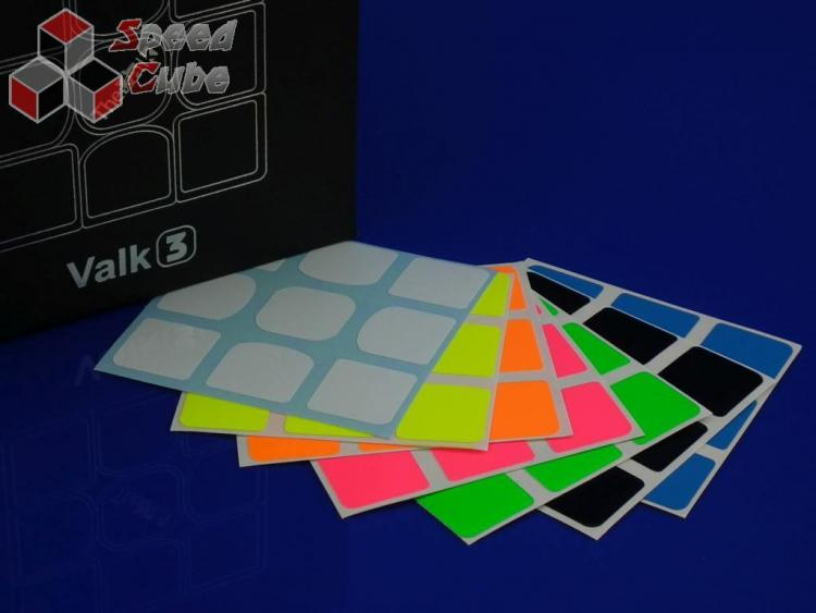 Naklejki 3x3x3 Z-Stickers Valk 3 Full Bright