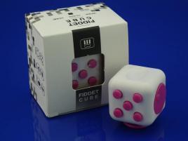 FidGet Cube - Kostka odstresowująca WH/PINK