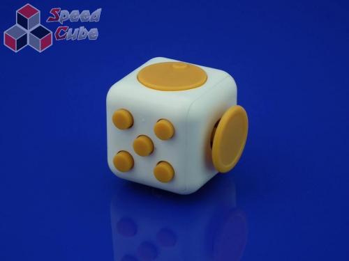 FidGet Cube - Kostka odstresowująca WH/YELLOW