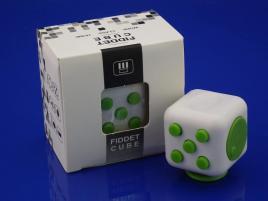 FidGet Cube - Kostka odstresowująca WH/GREEN