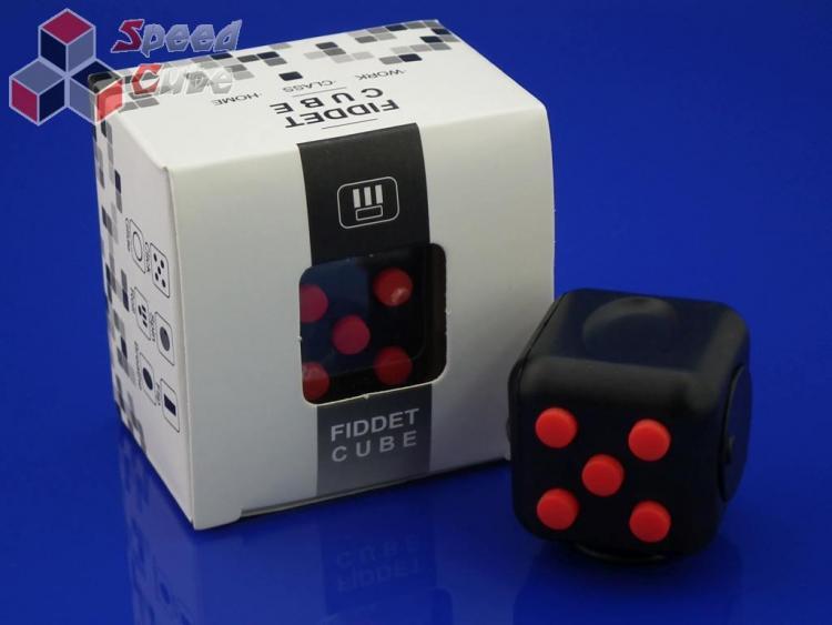 FidGet Cube - Kostka odstresowująca BL/RED