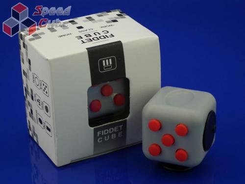 FidGet Cube - Kostka odstresowująca GR/RED