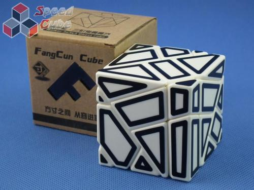 FangCun Ghost Cube White Body Black Hollow Stick.