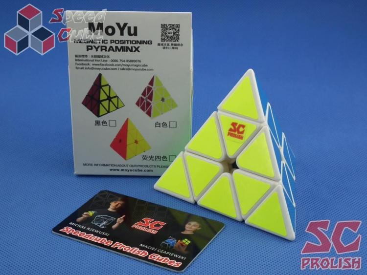 PROLISH MoYu Magnetic Pyraminx Biała Half Bright