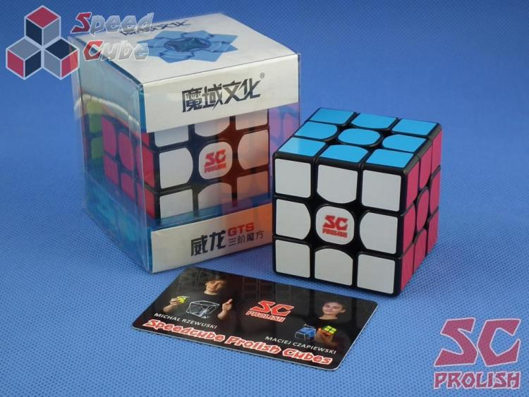 PROLISH MoYu WeiLong GTS 3x3x3 Czarna Half Bright