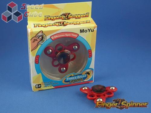 MoYu Three Balls Finger Spinner Red
