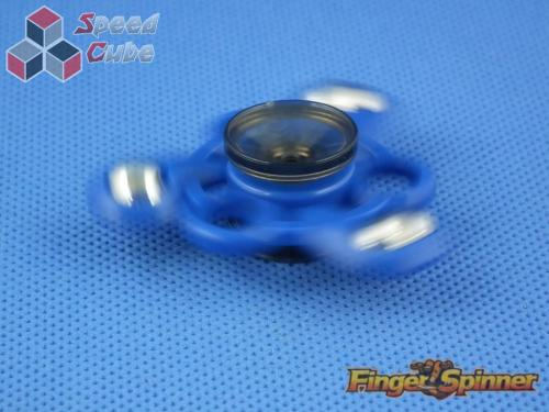 MoYu Three Balls Finger Spinner Blue