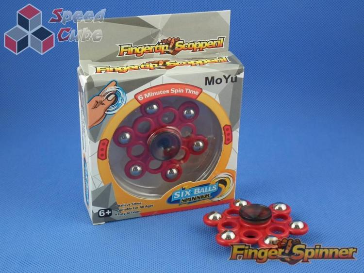 MoYu Six Balls Finger Spinner Red 9946D