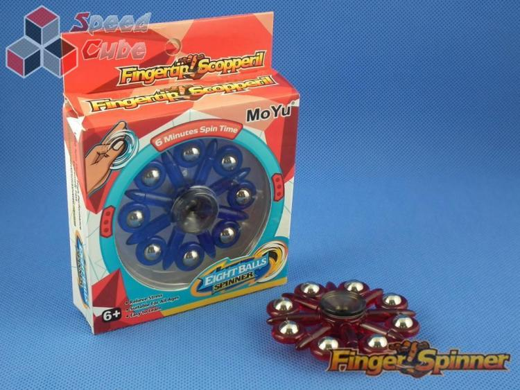 MoYu Eight Balls Finger Spinner Red 9948D
