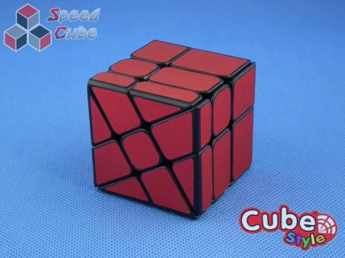 Cube Style Windmill Black Red Stickers