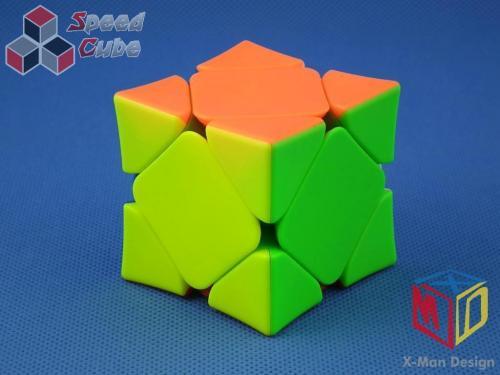 MoFangGe QiYi X-man Skewb Wingy Concave Magnetic Biała