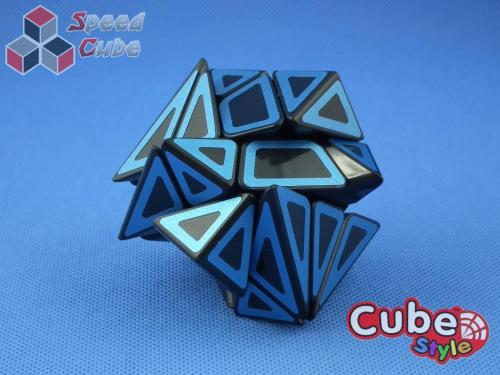 Cube Style Axis Hollow Blue Stickers
