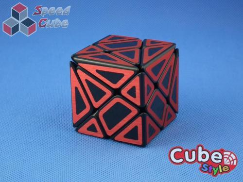Cube Style Axis Hollow Red Stickers