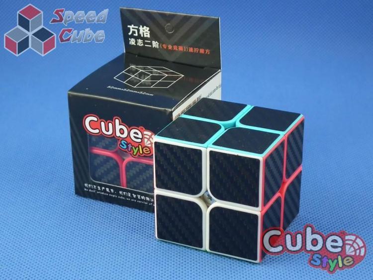 FangGe Cube Style 2x2x2 LeXus Red Carbon Stick.