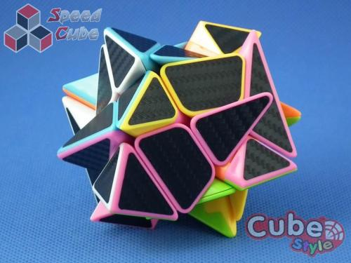 Cube Style Axis Pink Carbon Stickers