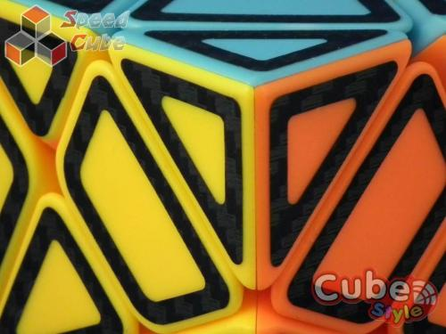 Cube Style Axis Stickerless Hollow Carbon Stickers
