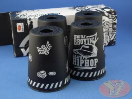 Kubki YongJun Stacking Cups Graffiti Czarne BOX