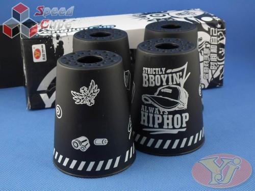 Kubki YongJun Stacking Cups Graffiti Czarne BOX