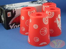 Kubki YongJun Stacking Cups Graffiti Czerwone BOX