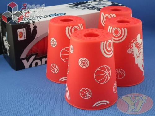Kubki YongJun Stacking Cups Graffiti Czerwone BOX