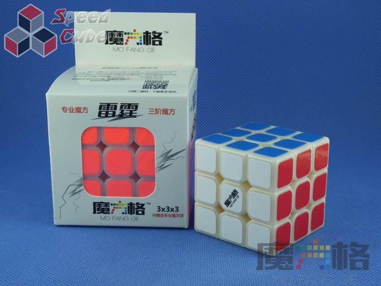 QiYi 3x3x3 MoFangGe Thunder Clap (LeiTing) Kremowa