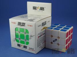 MoFangGe QiYi Thunder Clap (LeiTing) 3x3x3 Biała