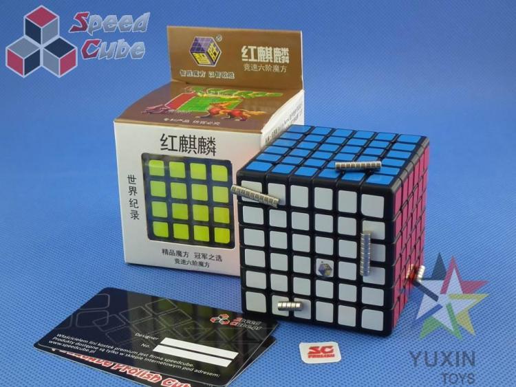 PROLISH YuXin Red Unicorn 6x6x6 Czarna Magnetyczna