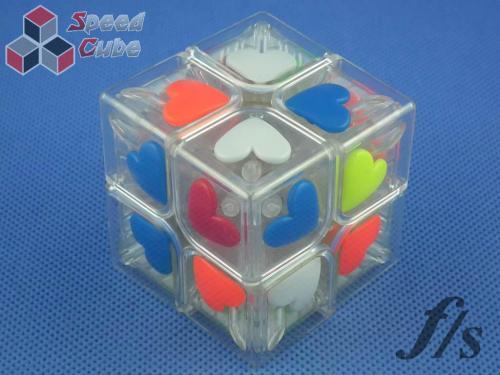 FangShi ShiShuang 2x2x2 Heart Transparentna