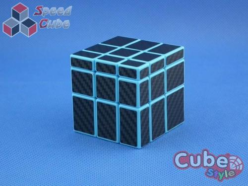 Cube Style Mirror 3x3x3 Blue Body - CarBon Stickers