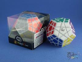 QJ Megaminx Stickers v2 Biała