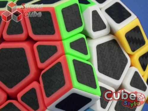 Cube Style Megaminx Carbon Stickers