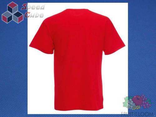 Koszulka z nadrukiem 3 Rozm. 128/7-8 lat Czerwona