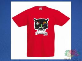Koszulka z nadrukiem 5 Rozm. 128/7-8 lat Czerwona