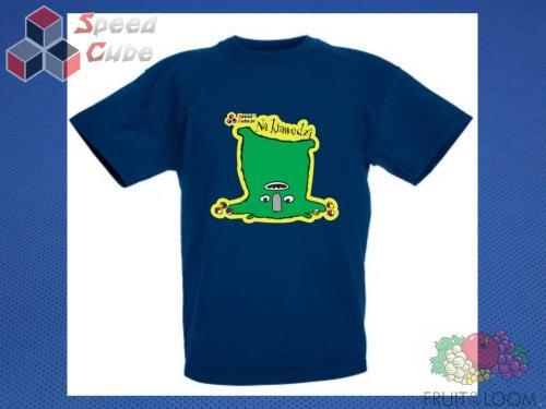 Koszulka z nadrukiem 10 Rozm. 128/7-8 lat Granatowa