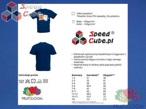 Koszulka z nadrukiem 7 Rozm. 140/9-11 lat Granatowa