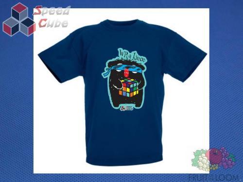 Koszulka z nadrukiem 12 Rozm. 140/9-11 lat Granatowa