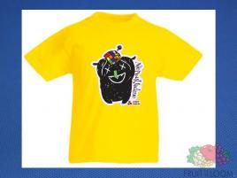 Koszulka z nadrukiem 1 Rozm. 140/9-11 lat Żółta